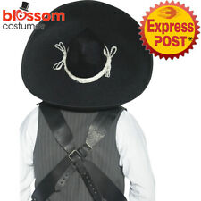Ac65 Authentic Sombrero Costume Large Hat Mexican Bandit Spanish Western Cowboy