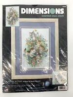 NOS Vtg Dimensions Martha Edwards Kittens Cat Counted Cross Stitch Kit #35066