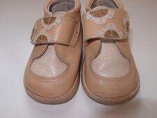 Zapatos de piel color camel para niña, talla 21
