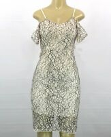 NWT ROMEO and JULIET COUTURE LACE WHITE BLACK DRESS SIZE MEDIUM TM72
