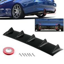 "23"" x 6"" Universal Black ABS Rear Bumper 5 Shark Fin Spoiler Wing Lip Diffuser"