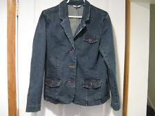 womens' IZOD denim jacket--size LG--3 button front--EUC