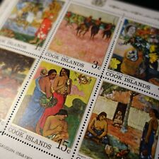 COOK ISLANDS N°160/165 BLOC FEUILLET N°2 PAUL GAUGUIN 1967 NEUF ** LUXE MNH