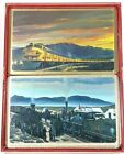 Vintage Union Pacific Railroad Classic Playing Cards Double Deck w/ Case