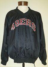 Vintage San Francisco 49ers Starter Brand Black V neck Sweater Jacket Size XL