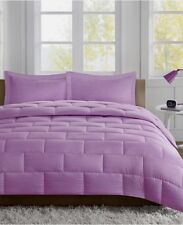 Intellegent Design Avery Seersucker Comforter Mini Set Sz Twin Purple