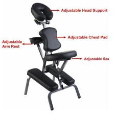 "New Quality Black 2"" Portable Massage Chair Tattoo Spa Salon w/ Free Carry Case"