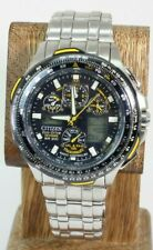 CITIZEN SKYHAWK BLUE ANGELS ECO-DRIVE U600-S052190 RADIO CONTROLLED WATCH FS!