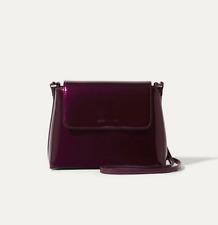 9ce88a8793 Karen Millen Patent Cross Body Bag **$219 NEW IN DUST BAG** aubergine