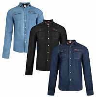 JACK & JONES or LEE COOPER Slim Fit Men's Denim Shirts New Western Jean Shirt