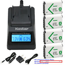 Kastar Battery LCD Fast Charger for Sony NP-BX1 Cyber-shot DSC-RX100M6 RX100 VI