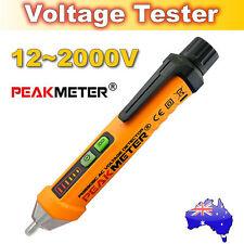 PEAKMETER AC 12V-1000V Intelligent Non-contact Voltage Detector Tester+LED Torch