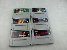 Lot de jeux pour console Super Nintendo, Lemmings, Jurassic Park, Super Soccer
