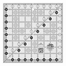 Creative Grids Clear Quilt Ruler 9-1/2 x 9-1/2 inch Square, Quilting  # CGR9