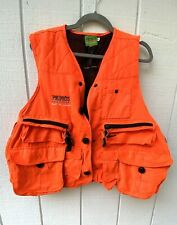 Primos Hunting Men's Blaze Orange Safety Vest Size Medium Pockets Upland Birds