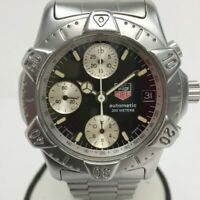 038 Used Tag Heuer Chronograph Divers 740.306 SelfWinding Watch Black No.3308