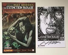 Extinction Parade #1 Forbidden Planet Cover & Signed Max Brooks Mini Print - NM