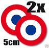 2 X Sticker autocollant * FRANCE Armée de l'air Cocarde tricolore  5cm