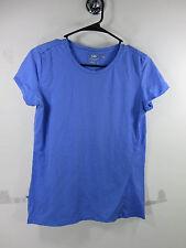 Icebreaker womens solid blue superfine pure merino wool cap sleeve top M EUC