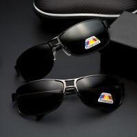 Moda 100% UV400 Uomo Polarizzati Retrò in Metallo Driving Outdoor Occhiali da
