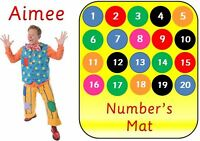PERSONALISED MR TUMBLE -LEARN YOUR  NUMBERS MAT/POSTER - EYFS-  1-20- LAMINATED