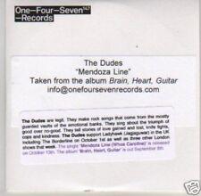 (L175) The Dudes, Mendoza Line - DJ CD
