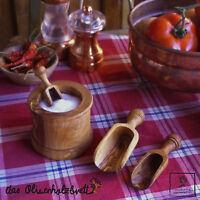 Schäufelchen Schippe Dosierlöffel Gewürzschippe Gewürz aus Olivenholz Holz