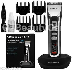 Silver Bullet Ceramic Pro Cord/Cordless 240 Hair Clipper