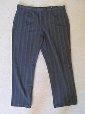 New East 5th Woman Gray Pinstripe Classic Fit Stretch Dress Pants Plus Size 22W