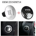 OEM 2215450714 Start Stop Push Button w/ Carbon Fiber Sticker Fits Mercedes Benz