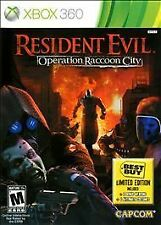 Microsoft XBox 360 Game RESIDENT EVIL OPERATION RACCOON CITY