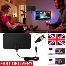 Super Mini Thin Flat Indoor Antenna Aerial HD TV Fox Scout HDTV VHF UHF DTV 25DB