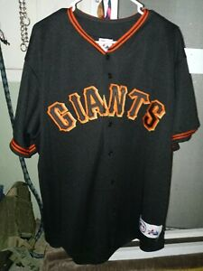 San Francisco Giants Majestic MLB Jersey Baseball Shirt Black Men Size  XLarge