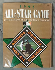 1993 MLB Baseball All Star Game Official Program Baltimore Orioles Stadium