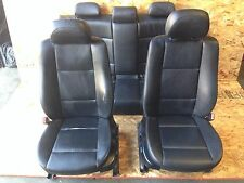 BMW OEM E46 325I SET FRONT REAR INTERIOR POWER SEATS SEAT LEATHER BLACK