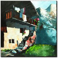 NOVAARTE Acryl Bild Gemälde Modern Abstrakt Malerei Kunst ORIGINAL Alpen UNIKAT