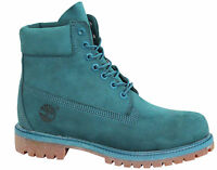 Timberland 6 Inch Prem Mens Boots Teal Nubuck Leather Lace Up Shoes A13FC T5