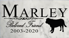 Customized Beloved Friend Dog Memorial Outdoor Stone Marker Select Your Breed