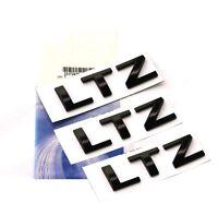 3x GENUINE Black LTZ Nameplate Alloy Letter Emblem Badge 2011-2015 Chevrolet FU