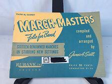 Vtg March Masters Folio For Band James A. Scott 1958 Cornet Sheet Music