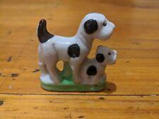 Rare Vintage Fox Terrier Miniature Porcelain Ceramic Figurines Collectable 6x5cm