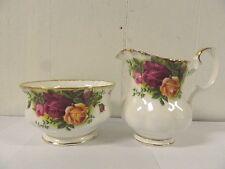 Royal Albert Old Country Roses Bone China Open Sugar Bowl & Cream Pitcher Set