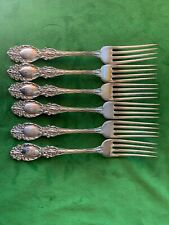 (6) R Wallace & Sons Lucerne Sterling Silver 257 Grams Forks