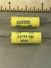 5 Wesco 32PL .0047uf  4700pf 100V Polypropylene Film and Foil Capacitors //-5/%