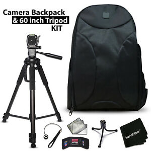 Well Padded Camera Backpack + 60 inch Tripod for Canon EOS Rebel T6