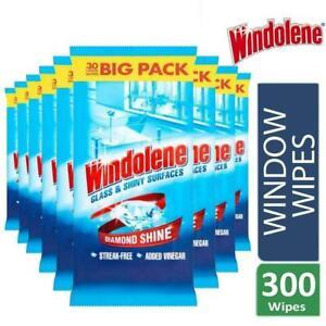 Windolene 4 Action Glass & Shiny Surfaces Wipes (30) - Pack of 10