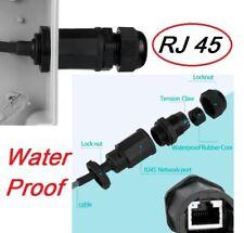 RJ45 Waterproof panel mount Connector M20 Ethernet LAN USA
