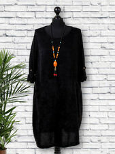 Made in Italy Button Sleeve Knitted Necklace Italian Dress Plus Size 14 16 18 20