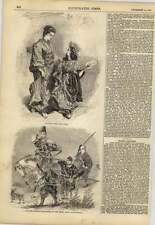 1858 japonais femme et enfant noble proceeding to the chase