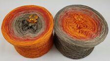 6,90 EUR//100 g Singender Knochen Wolle Garn Bobbel Farbverlaufsgarn